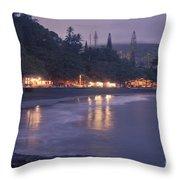 Kapueokahi - Hana Bay - Sunset Hana Maui Hawaii Throw Pillow