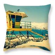 Kapukaulua Beach Lifeguard Station Paia Maui Hawaii  Throw Pillow