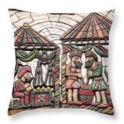 Karagoz Museum Throw Pillow