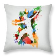 Karate Fighter Throw Pillow by Aged Pixel