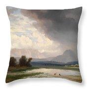 Karawanks Landscape Throw Pillow