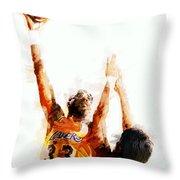 Kareem Abdul Jabbar N B A Legend Throw Pillow