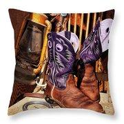 Karen's Cowgirl Gear Throw Pillow