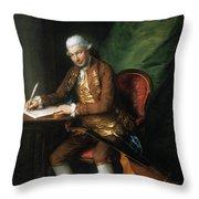Karl Friedrich Abel (1725-1787) Throw Pillow