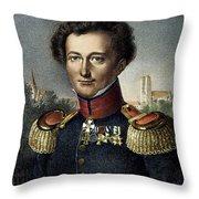 Karl Von Clausewitz (1780-1831) Throw Pillow