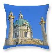 Karlskirche - Vienna Throw Pillow