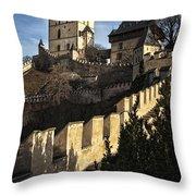 Karlstejn Castle Color Throw Pillow
