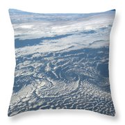 Karman Vortex Cloud Streets From Space Throw Pillow