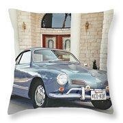 Karmann Ghia Coupe Throw Pillow