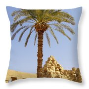 Karnak Temple 03 Throw Pillow