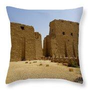 Karnak Temple 04 Throw Pillow