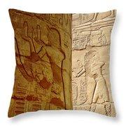 Karnak Temple Detail Throw Pillow