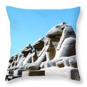 Karnak Temple Statue 14 Throw Pillow