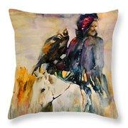 Kasak With Falcon Throw Pillow