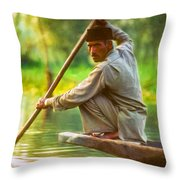 Kashmir Dream Impasto Throw Pillow