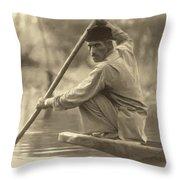 Kashmir Dream Sepia Throw Pillow