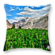 Kashmir Field Throw Pillow