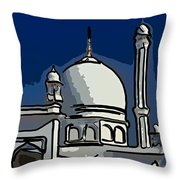 Kashmir Mosque 2 Throw Pillow by Steve Harrington