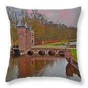 Kasteel De Haar Sunset Throw Pillow