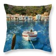 Kastellorizo Island Throw Pillow
