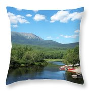 Katahdin From Abol Bridge Throw Pillow