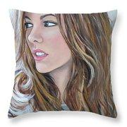 Kate Beckinsale Throw Pillow