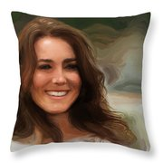 Kate Middleton Throw Pillow