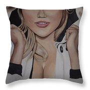Kate Upton Throw Pillow