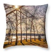 Katepwa Lake In Saskatchewan Throw Pillow