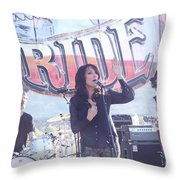 Katey Sagal Throw Pillow