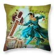 Kathak Dancer 4 Throw Pillow