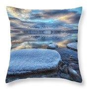 Kathleen Lake And Mount Worthington Throw Pillow