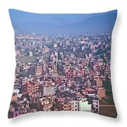 Kathmandu From The Airplane-nepal  Throw Pillow