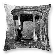 Kathy In Gazebo 1979 Throw Pillow