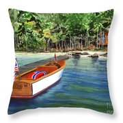 Kathy's Boat Throw Pillow