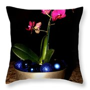 Kathy's Orchid Throw Pillow
