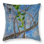 Kathy's Wall And Vine Throw Pillow