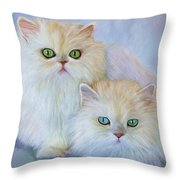 Katrina And Bjorn Throw Pillow