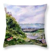 Katz Castle Throw Pillow