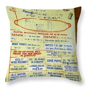 Katz's Catering Throw Pillow