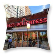 Katz's Delicatessan Throw Pillow