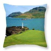Hokuala - Ocean Course - Hole 16 Throw Pillow