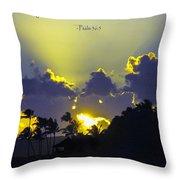 Kauai Sunset Psalm 36 5 Throw Pillow