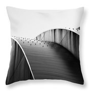 Kauffman Center Black And White Curves Photography Throw Pillow