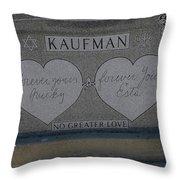 Kaufman Grave No Greater Love Throw Pillow
