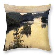 Kaukola Ridge At Sunset Throw Pillow