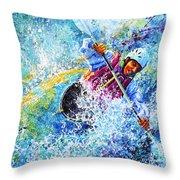 Kayak Crush Throw Pillow by Hanne Lore Koehler