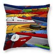 Kayak Explosion Throw Pillow