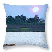 Kayak Fishing 1 Throw Pillow