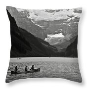 Kayak On Lake Louise Throw Pillow